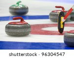 group of curling rocks on ice | Shutterstock . vector #96304547