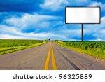 billboard on country road | Shutterstock . vector #96325889