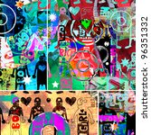 graffiti collage  abstract