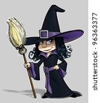 Little Witch On Solid...