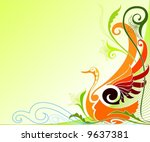 bird of paradise | Shutterstock .eps vector #9637381