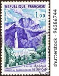 france   circa 1960  a stamp... | Shutterstock . vector #96386744