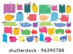 set of color funny labels over... | Shutterstock .eps vector #96390788