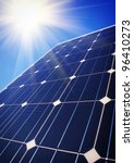 Solar panels - stock photo