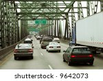 traffic on bridge entering... | Shutterstock . vector #9642073