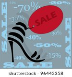 shoes icon. sale. vector. | Shutterstock .eps vector #96442358