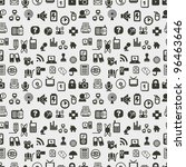 Seamless web icons pattern. Vector illustration. - stock vector