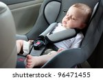 Beautiful Baby Sleeping In Car...
