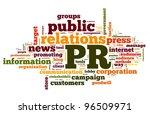 public relations concept in... | Shutterstock . vector #96509971
