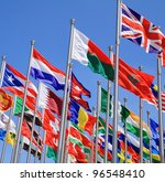 uk and world national flags is... | Shutterstock . vector #96548410