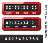 vector red mechanical counter   ... | Shutterstock .eps vector #96561133