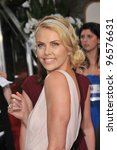 Charlize Theron at the 69th Golden Globe Awards at the Beverly Hilton Hotel. January 15, 2012  Beverly Hills, CA Picture: Paul Smith / Featureflash - stock photo