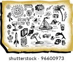 summer holidays icons | Shutterstock .eps vector #96600973