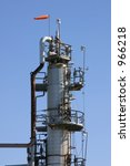 oil refinery tower. | Shutterstock . vector #966218