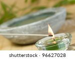 Tranquil Scene With Candle...
