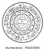signs of the zodiac  vintage... | Shutterstock .eps vector #96633583
