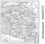 religious map of france ...   Shutterstock . vector #96634717
