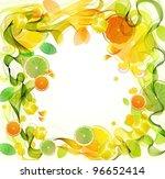 orange and lime juice splash... | Shutterstock .eps vector #96652414
