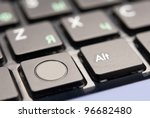 black computer keyboard close up | Shutterstock . vector #96682480