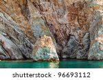 rock in the sea in a sunny day | Shutterstock . vector #96693112
