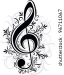 musical decor.  raster copy  | Shutterstock . vector #96711067