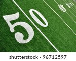 view from above of 50 yard line ... | Shutterstock . vector #96712597