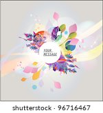 beautiful floral banner | Shutterstock .eps vector #96716467
