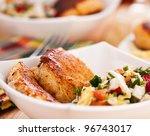 Постер, плакат: abundance of food on