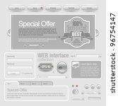 light web ui elements design... | Shutterstock .eps vector #96754147