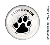 show your love for dogs with... | Shutterstock .eps vector #96756013