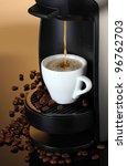 Espresso Machine Pouring Coffe...