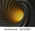 Dark Abstract Vortex With Light At The End - stock photo