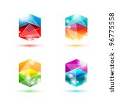 business design geometric elements ( icon ) set for print and web. vector - stock vector