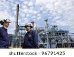refinery workers and chemical... | Shutterstock . vector #96791425