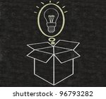 business idea thinking outside... | Shutterstock . vector #96793282