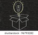 business idea thinking outside...   Shutterstock . vector #96793282