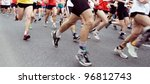 people running marathon on city ... | Shutterstock . vector #96812743