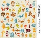 monsters set | Shutterstock .eps vector #96820363