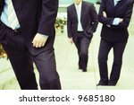three business people standing... | Shutterstock . vector #9685180