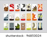 21 vertical business cards in... | Shutterstock .eps vector #96853024
