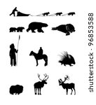 animals,antlers,bear,bison,black,buffalo,cow,deer,dogs,hedgehog,horn,horse,husky,indian,man