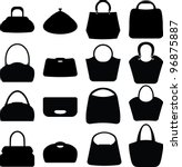 Vector Silhouette Women Bags