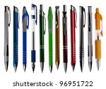 pens collection isolated on... | Shutterstock . vector #96951722