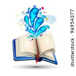 colorful real books with... | Shutterstock .eps vector #96954377