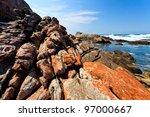 beautiful colorful rocky...