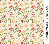 seamless pattern with spring... | Shutterstock .eps vector #97019522