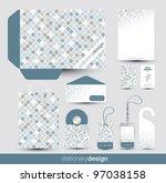 stationery design set in... | Shutterstock .eps vector #97038158