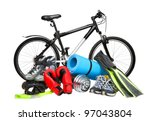 sport equipment - stock photo