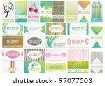 beautiful vector set with... | Shutterstock .eps vector #97077503