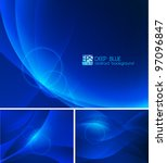 Deep Blue Abstract Background....
